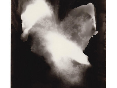 """The original artwork cover - photogram/photograph, black and white, only one copy"" main photo"