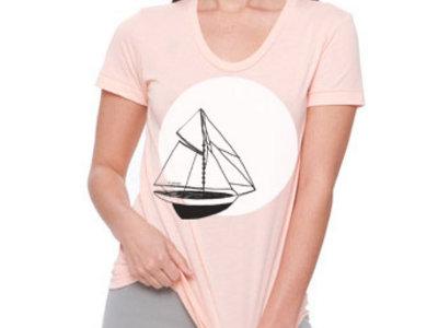 T-shirt - Mon beau navire - Abricot -  Femme main photo
