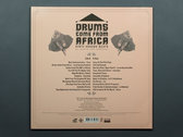 Drums Come From Africa limited edition (500 ex) photo