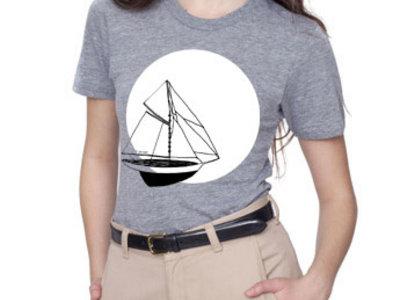 T-shirt - Mon beau navire - Gris main photo