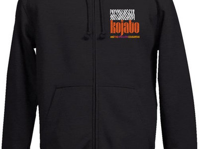 Embroidered Hooded Sweat Jacket w/ Zip - black main photo