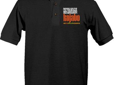 Embroidered Polo-Shirt - black main photo