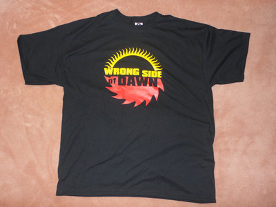 """Buzzsaw sun"" logo T-shirt, CD of new single, and bumper sticker main photo"