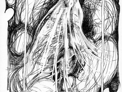 The Pulse Of The Lingering Spirit  -original drawing - P. Emerson Williams 1996 main photo