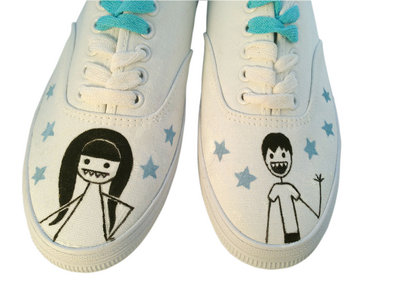 White custom ladies' Little,Big sneaks main photo