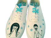 White custom ladies' Little,Big sneaks photo