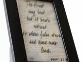Hand-Made framed Lyric Sheet photo