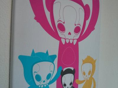 Poodle Scum Monsters A2 Canvas Print main photo