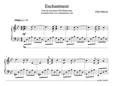 Sheet Music - Enchantment  (Glimmerings) + music main photo