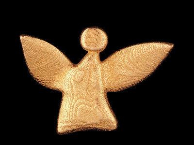 fairy angel #1 - gold-plated stainless steel main photo