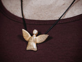 fairy angel #1 - gold-plated stainless steel photo