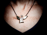 fairy angel #1 - polished, gold-plated brass photo