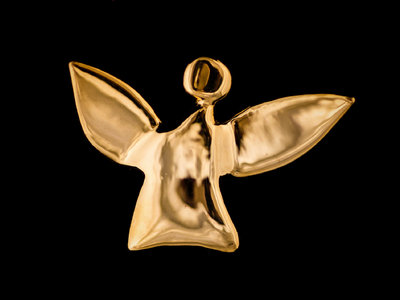 fairy angel #1 - polished, gold-plated brass main photo