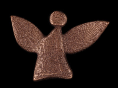 fairy angel #1 - bronze-plated stainless steel main photo