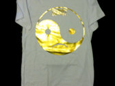 Yin Yang Dripping Gold Ink T-Shirt photo