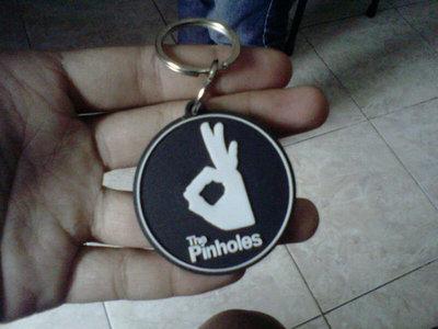 The Pinholes_Lo_go Rubber Keychain main photo