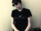 'Bull Horn Moon' Black T-Shirt photo
