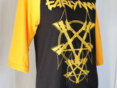 Guitar Pentagram baseball tee photo