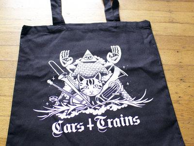Cotton Tote Bag, Cat Design main photo