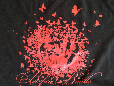 "Before Braille ""Banded Butterfly"" Black shirt (Girls) main photo"