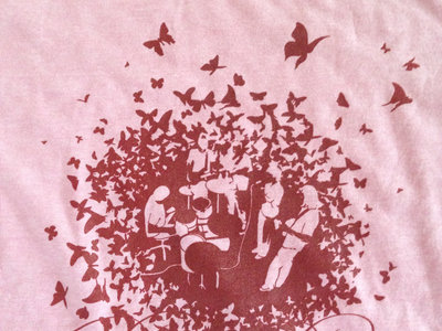 """Before Braille """"Banded Butterfly"""" Ringer Tee (Red/Pink) main photo"""