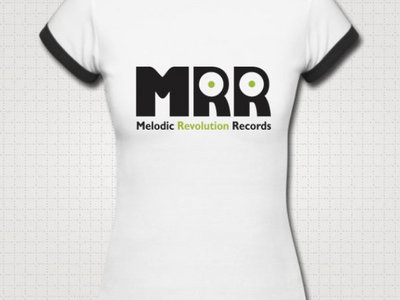 Official MRR Logo: Ladies Ringer White w/Black Trim main photo