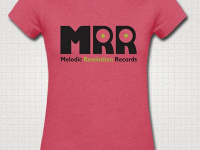 Official MRR Logo: Ladies Raspberry Melange Heathery Jersey main photo