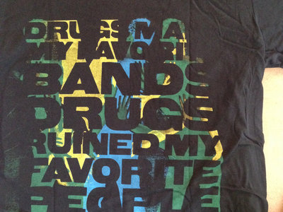 "Art For Starters ""Drugs Ruin"" Black Shirt (Men) main photo"