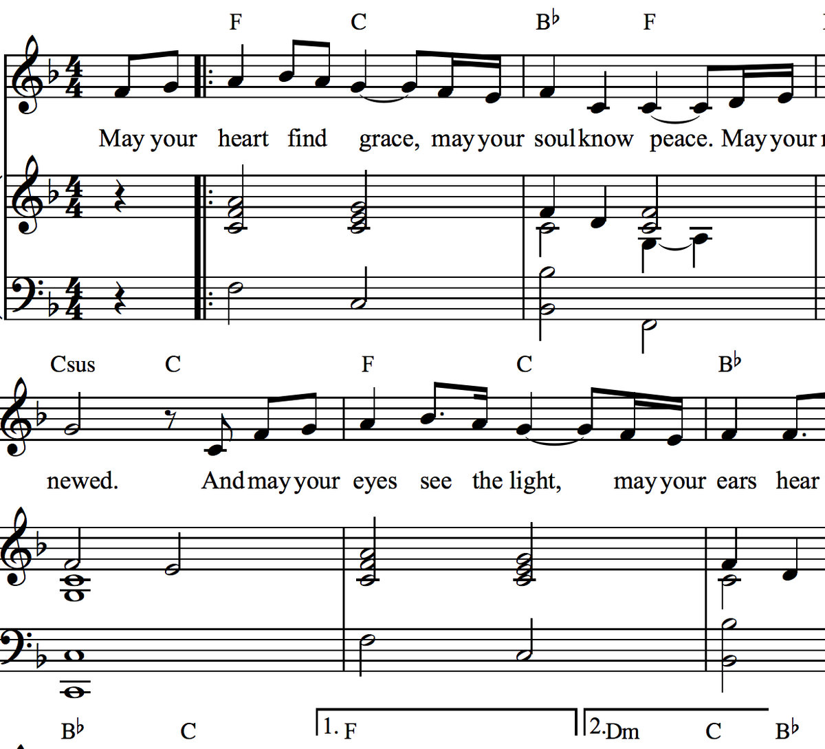 Christian Songs Sheet Music Pdf - abide with me fast falls the eventide hymnary in christ alone ...