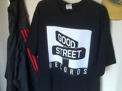Good Street Printed Logo T-Shirt (White on black) main photo