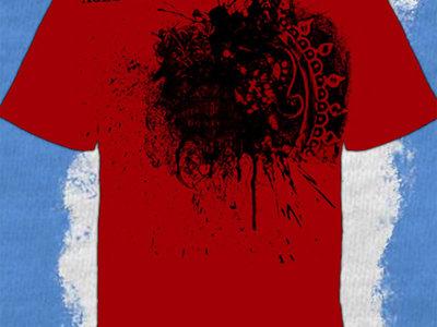 Red Graphic Splatter T main photo