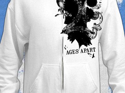 White Splatter Graphic Hoodie main photo