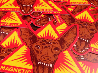 "Magnetic Eye Records Pharaoh Hound | 4"" X 4"" Die Cut Vinyl Sticker main photo"