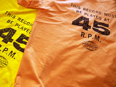 "Hi-Vo ""45 RPM"" T-shirt in Orange or Lemon! main photo"
