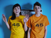 "Hi-Vo ""45 RPM"" T-shirt in Orange or Lemon! photo"