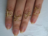 4-letter ring set by Frances Rae - RLJD or custom! photo