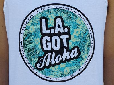 """LA Got Aloha Full Circle"" Tank (Mens) White main photo"