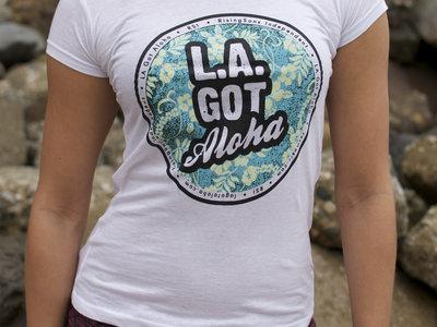"""LA Got Aloha Full Circle"" Tee (Womens) White main photo"
