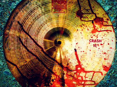 "Trip MD's Cracked and Bloody Paiste 2002 16"" Crash Cymbal main photo"