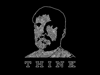 "THINK T-shirt + ""Who Are You Supposed To Be?"" Download main photo"