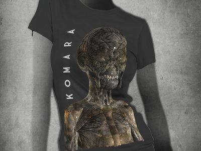 T-Shirt with KoMaRa creature by Adam Jones - grey woman main photo
