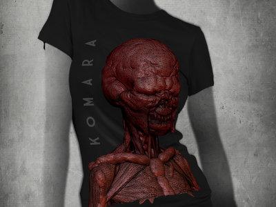 T-Shirt with KoMaRa creature by Adam Jones - black woman main photo