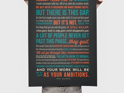 "Ira Glass Quote On Creativity Print (18"" x 24"") main photo"