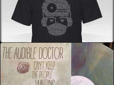 Audible Doctor Logo T-Shirt x Can't Keep The People Waiting LP (Bundle) main photo