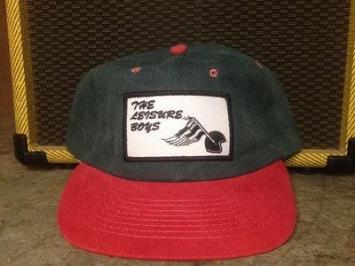 The Leisure Boys Snapback Hat (Dark Green/ Red) main photo