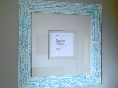 Framed Work - Blue main photo