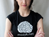 MOZYK single colored logo on a T-shirt photo