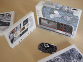 1980's Cassette Player Customized by Artist. Including Album Cassette w/Sleeve photo