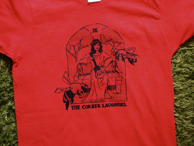 "Corner Laughers T-shirt in red! (""Ladies"" fit) main photo"