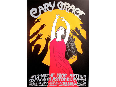 Cary Grace @ The King Arthur Glastonbury Limited Edition Art Print (A3) main photo